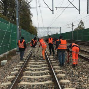 Roboty na szlaku Pruszków-Żyrardów